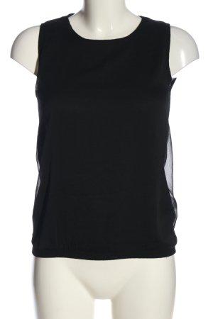 Zara Knit Schlupf-Bluse schwarz Casual-Look