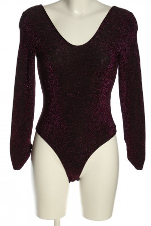 Zara Knit Shirtbody zwart-roze casual uitstraling