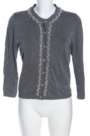 Zara Knit Shirtjacke hellgrau meliert Casual-Look