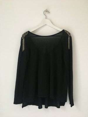 Zara Knit Shoulderpat Shirt Gr. M/ 38 Party-Oberteil