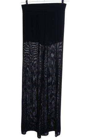 Zara Knit Stoffhose schwarz Casual-Look