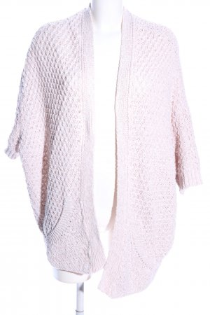 Zara Knit Strick Cardigan pink meliert Casual-Look