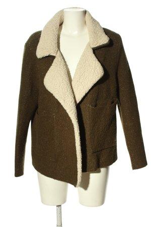 Zara Knit Strick Cardigan braun-weiß Casual-Look