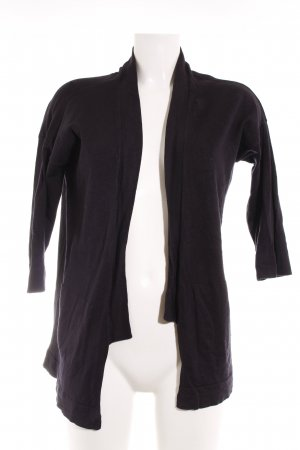 Zara Knit Strick Cardigan dunkelblau schlichter Stil