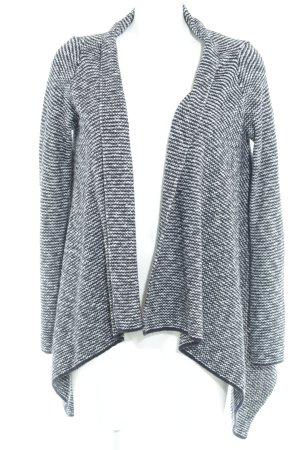 Zara Knit Strick Cardigan schwarz-weiß meliert Casual-Look