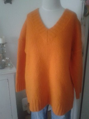 Zara Knit Strick Pullover orange Oversized Blogger