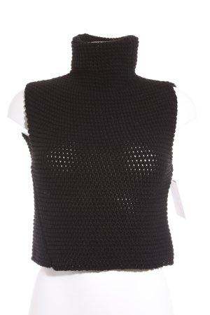 Zara Knit Strickbekleidung schwarz Casual-Look