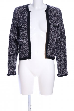 Zara Knit Strickblazer meliert Casual-Look