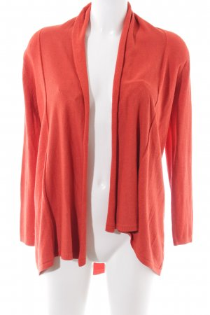 Zara Knit Strickjacke rot Casual-Look