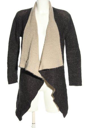 Zara Knit Strickjacke hellgrau-wollweiß meliert Casual-Look