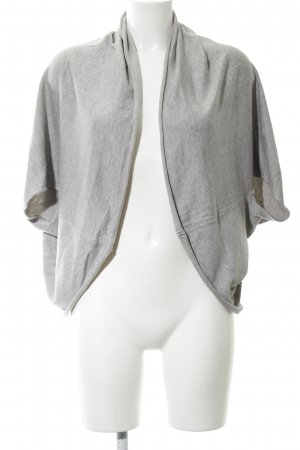 Zara Knit Strickjacke hellgrau meliert Casual-Look
