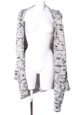 Zara Knit Strickjacke weiß-schwarz Casual-Look