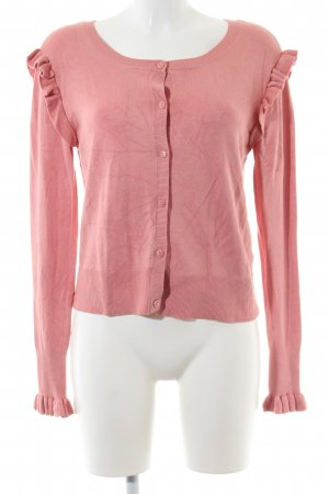 Zara Knit Strickjacke pink Casual-Look