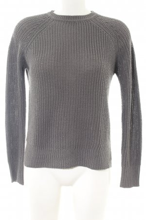 Zara Knit Strickjacke hellgrau Zopfmuster Casual-Look