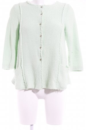 Zara Knit Strickjacke blassgrün Elegant