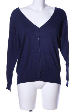 Zara Knit Strickjacke blau Business-Look