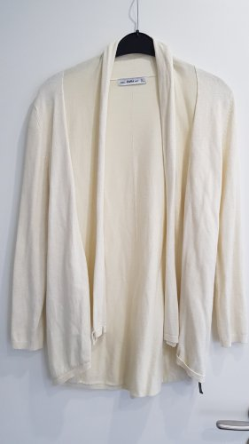 ZARA Knit Strickjacke 》Creme