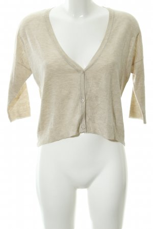 Zara Knit Strickjacke creme Casual-Look