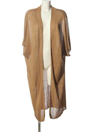 Zara Knit Abrigo de punto marrón look casual