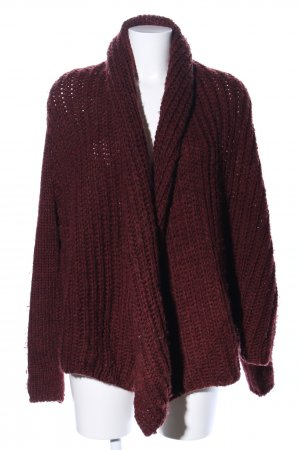 Zara Knit Strickjacke rot Zopfmuster Casual-Look