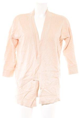 Zara Knit Strickjacke nude Casual-Look