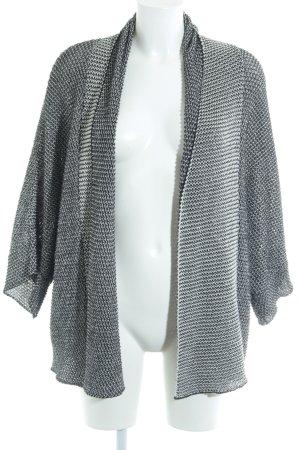 Zara Knit Strickjacke schwarz-weiß meliert Casual-Look