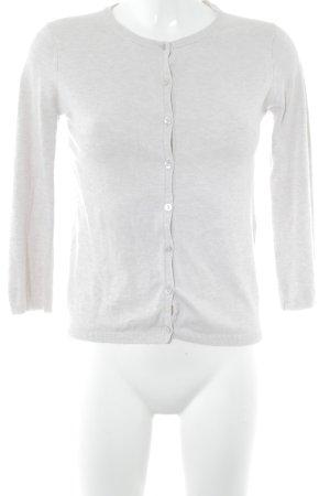 Zara Knit Strickjacke wollweiß Casual-Look