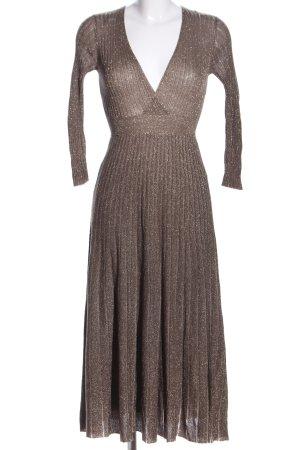 Zara Knit Strickkleid bronzefarben-goldfarben meliert Elegant