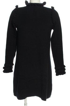 Zara Knit Strickkleid schwarz Casual-Look