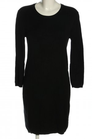 Zara Knit Strickkleid schwarz Casual-Look