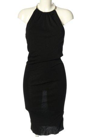 Zara Knit Strickkleid schwarz Elegant