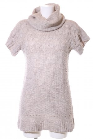 Zara Knit Strickkleid creme Zopfmuster Casual-Look