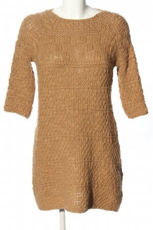 Zara Knit Strickkleid braun Casual-Look