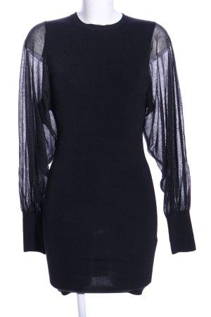 Zara Knit Strickkleid schwarz Business-Look