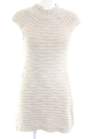 Zara Knit Abito di maglia bianco sporco stile casual