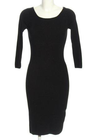 Zara Knit Abito di maglia nero stile casual