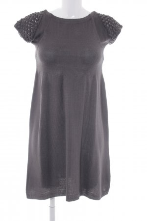 Zara Knit Strickkleid grau Casual-Look