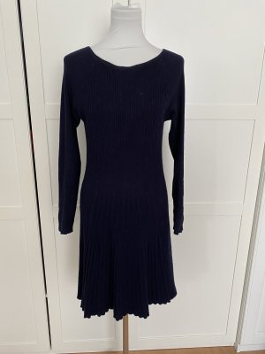Zara Knit Strickkleid mit Cashmere Gr M dunkelblau