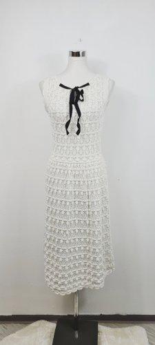 Zara Knit/ Strickkleid mit Lochstickerei/ Größe L