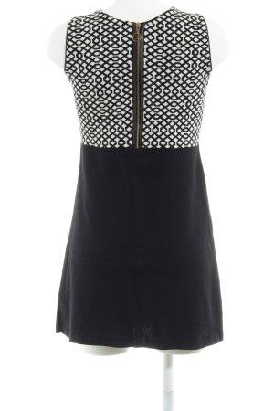 Zara Knit Strickkleid schwarz-wollweiß grafisches Muster Casual-Look