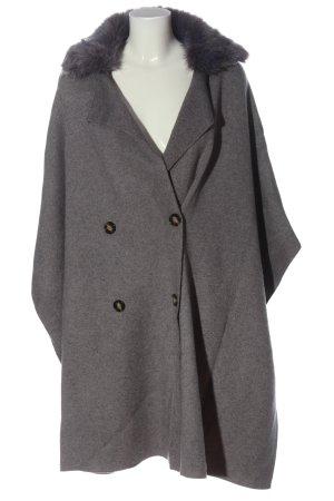 Zara Knit Knitted Coat light grey flecked casual look