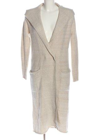 Zara Knit Manteau en tricot crème style décontracté
