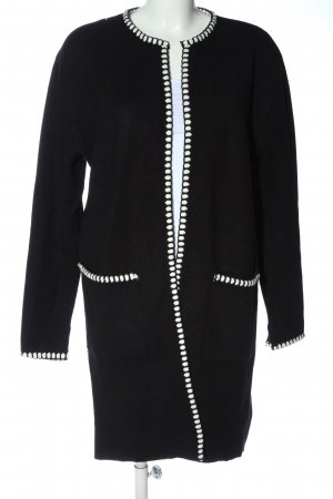 Zara Knit Knitted Coat black-white casual look