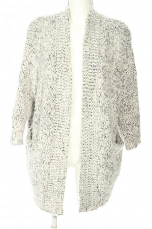 Zara Knit Strickmantel weiß-schwarz Zopfmuster Casual-Look