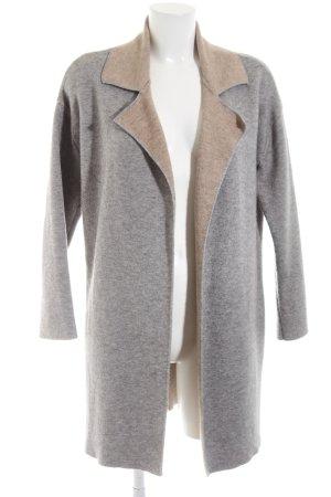 Zara Knit Knitted Coat light grey-nude flecked casual look