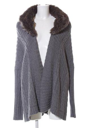 Zara Knit Gebreide jas lichtgrijs kabel steek casual uitstraling