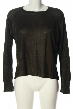 Zara Knit Strickpullover khaki Casual-Look