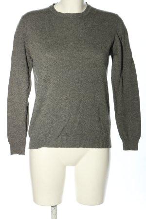 Zara Knit Sweter z dzianiny jasnoszary Melanżowy W stylu casual