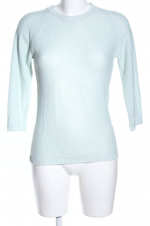 Zara Knit Strickpullover türkis Casual-Look