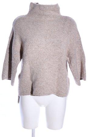 Zara Knit Strickpullover braun meliert Casual-Look